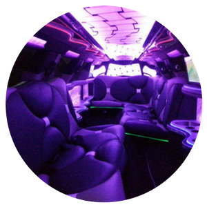 Inside of our luxury limo