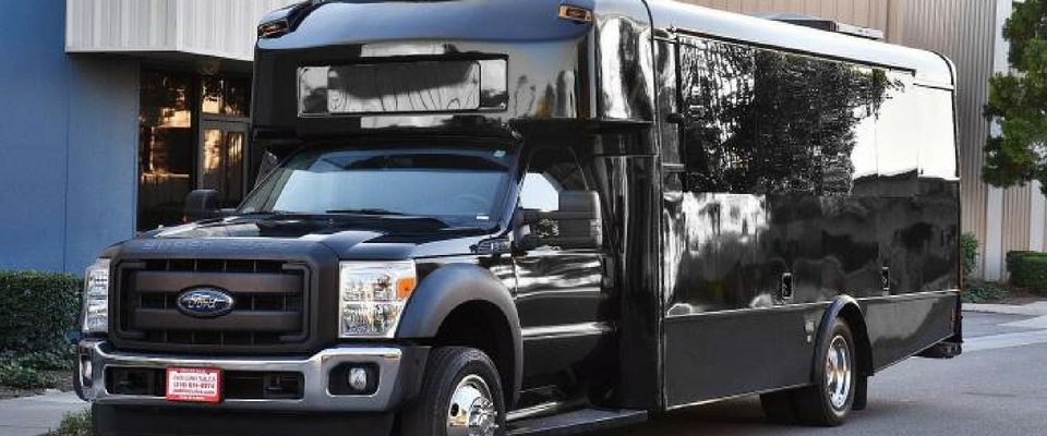 26 passenger black bus