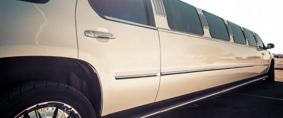 champagne colored stretch limo