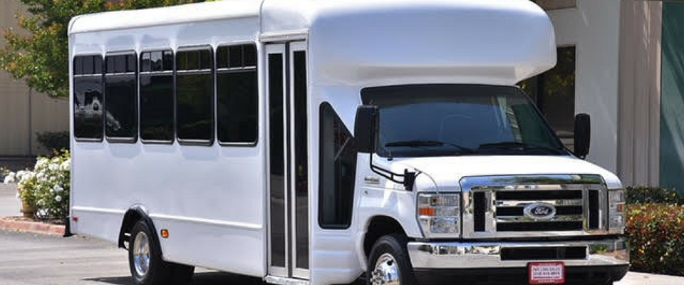 20 passenger white bus